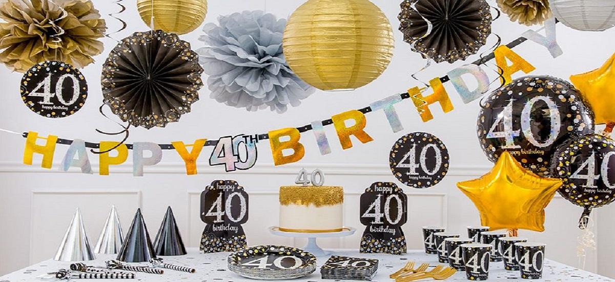 40 års fødselsesdag   Køb Festpynt til 40års fødselsdag her!