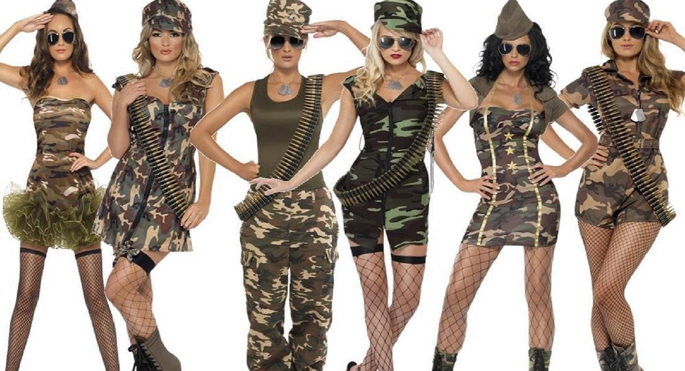 militär kostym kvinna