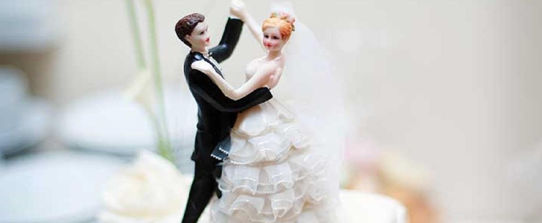 Online dating bryllupskage topper