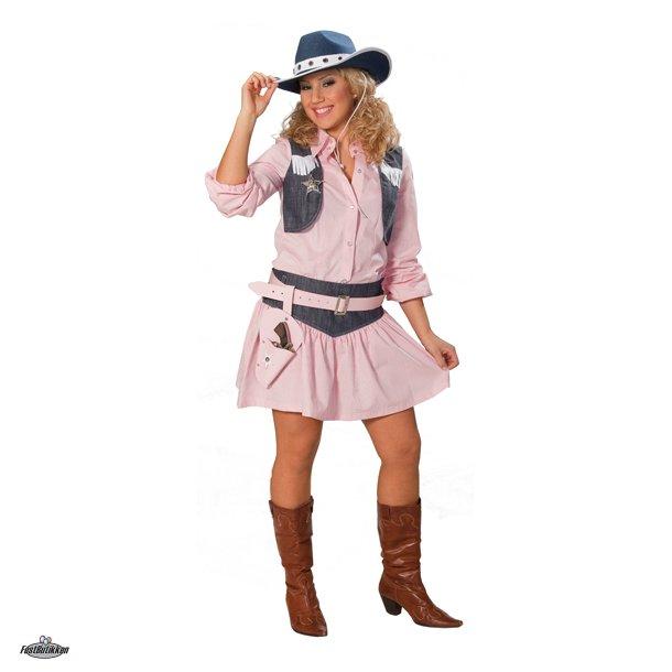 Cowgirl sæt, skjorte og nederdel