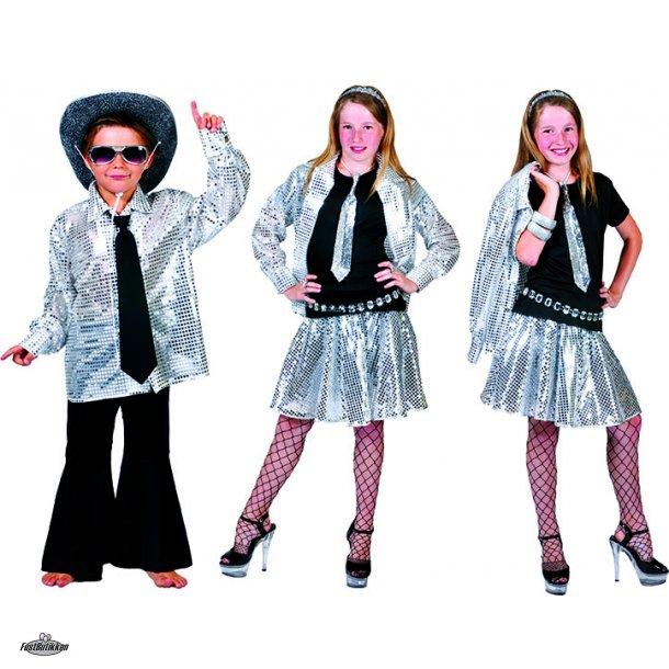 Disco Nederdel med Sølvpalietter
