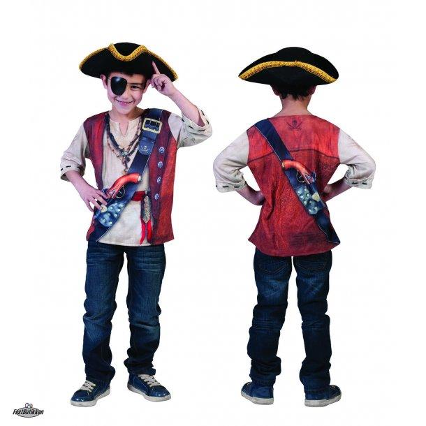 Pirat 3D T-shirt til børn