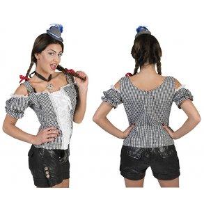 c0c54688004b Tyroler bluse til kvinder TERNET