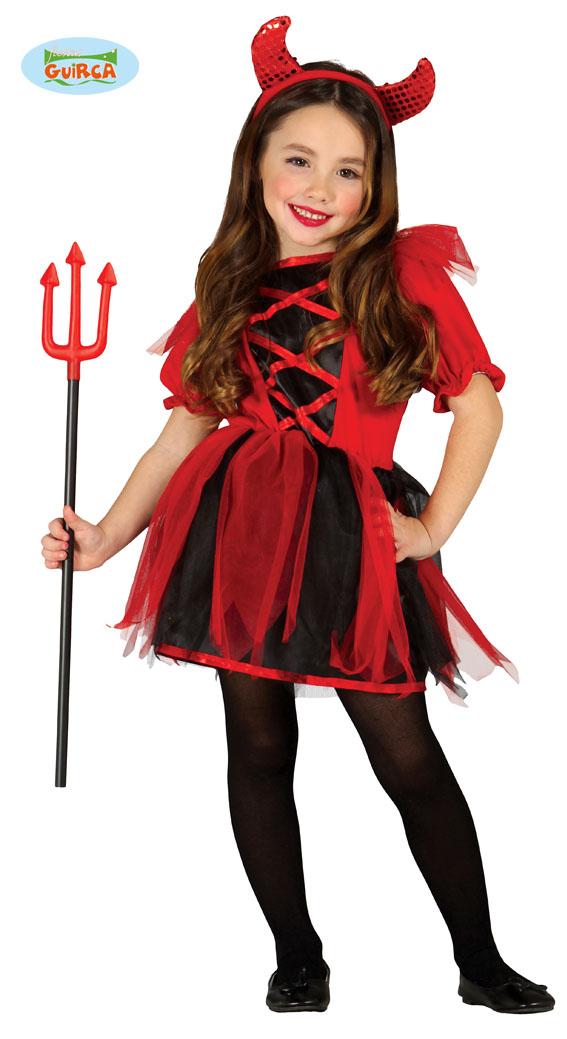 djävulen klänning i rött-svart - Halloweendräkter Flickor - Festbutikken.se 9b2321ed4bde0