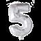 Folie ballon TAL  på pind i SØLV 41 cm
