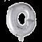Folie ballon BOGSTAVER - SØLV, 41 cm