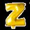 Folie ballon BOGSTAVER - GULD, 41 cm