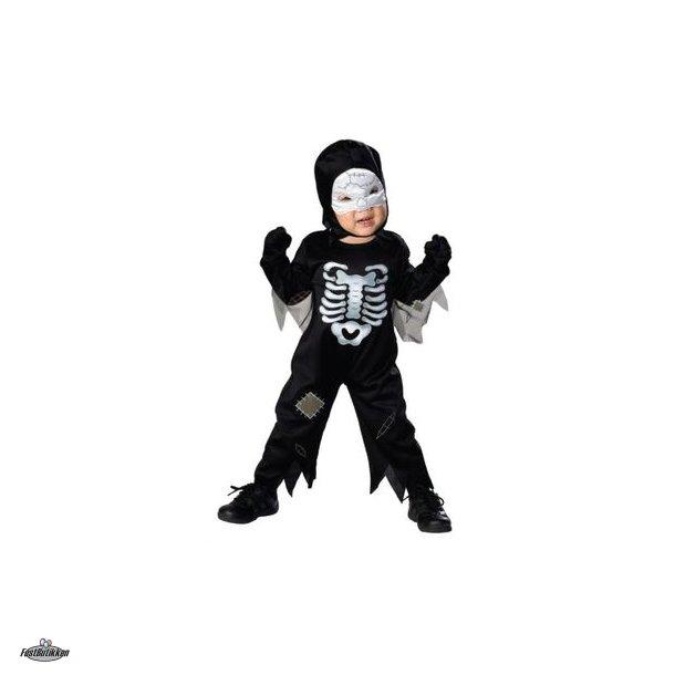 Skelet kostume med lyd str.1-2år