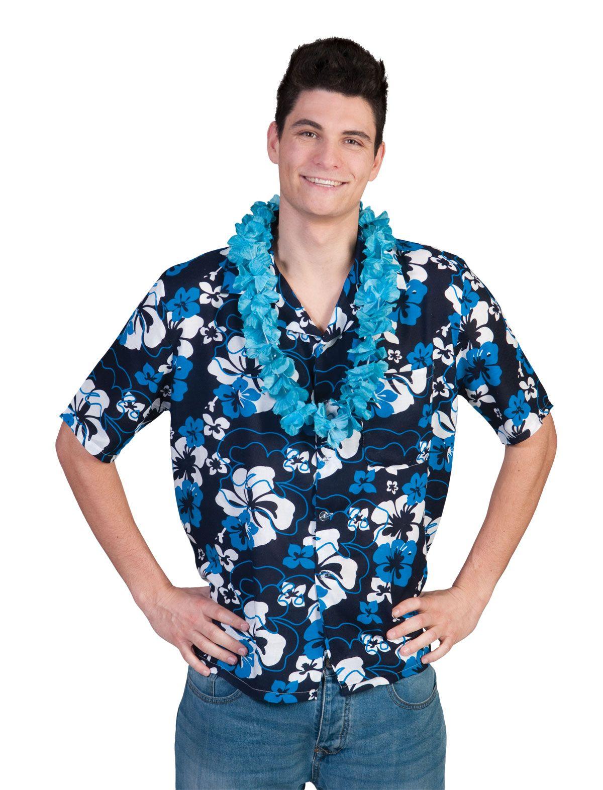 Hawaii kjole BLUE PALM