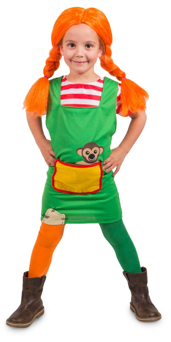 Super Pippi Langstrømpe kostume Barn | Køb Pippi kostume online DM36